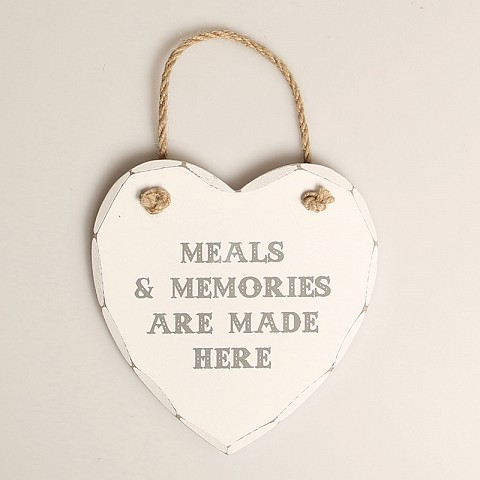 Meals and Memories Heart Plaque
