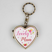 Lovely Mum Heart Shaped Locket Key Ring